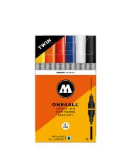 MOLOTOW ONE4ALL Acrylic Twin Marker - 6er Basic Set 1