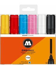 MOLOTOW ONE4ALL 327HS Chisel Tip Marker - 6er Set