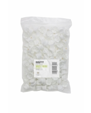 Skinny Cap Beige (White / Beige) - 100er Pack